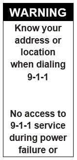 911 VOIP Label