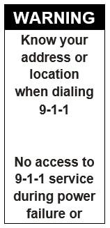 911 VOIP Label